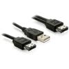 DELOCK Power Over eSATA Y-cable -> USB and eSATA male 1m (84387)