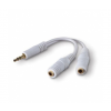 Belkin Cable Y-adapter 3.5MM/3.5MM KLINKE F M/F (F8V234EAWHT-APL)