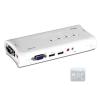 Trendnet TK-409K 2 portos USB2.0 KVM switch audio porttal hub és switch