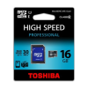 Toshiba Memóriakártya, Micro SDHC, 16GB, Class 10, adapterrel, TOSHIBA