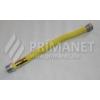 Flexi gáztömlő 1/2-1/2 KB 300/600 sárga bevonat