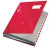 Leitz Aláírókönyv, A4, 18 részes, karton, LEITZ, piros (E57450025) aláírókönyv