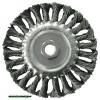 drótcsiszoló körkefe sodort, M14×2 sarokcsiszolóra; 100mm, ford.: 11000/perc