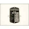 PANNÓNIA TÍPUSTÁBLA /P20/ PANNÓNIA - P20/21