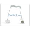 Haffner Apple iPhone 3G/3GS/4/4S/iPad/iPad2/iPad3 USB adat- és töltőkábel spirál vezetékkel - fehér