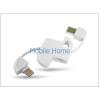 Haffner Apple iPhone 5/5S/5C/iPad 4/iPad Mini USB - ligthning kulcstartó adatkábel - fehér