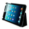 4world iPad Mini műbőr tok-állvány fekete vízálló 7'' + Stylus (09175)