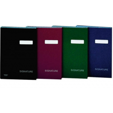 DONAU Aláírókönyv, A4, 19 elválasztó lappal, karton, , vörös aláírókönyv