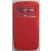 Nillkin Fresh oldalra nyíló hívás mutatós bőrbevonatos tok Motorola X1032 Moto G-hez piros*