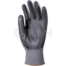 Euro Protection Poliamid szerelõkesztyû, mikro-habosított fekete nitril tenyérrel, csúszásbiztos