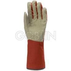 Euro Protection Vinyllel impregnált pamut tenyér, gumis pamut kézhát és 15 cm hosszú mandzsetta