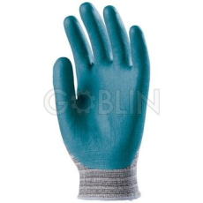 Euro Protection Eurofit rugalmas Spandex/poliamid kesztyû, kék nitril-poliuretán bipolimer tenyérrel