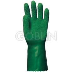 Euro Protection Végig mártott kesztyû, zöld, vágásbiztos, csúszásgátló, erõsített latex, 32cm