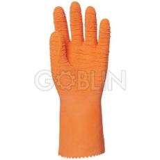 Euro Protection Narancs latex kesztyû, saválló, vágásbiztos, csúszásgátló, erõsített, 32cm