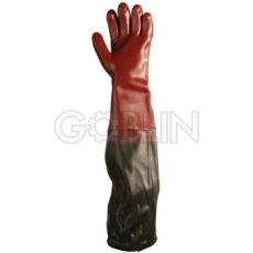 Euro Protection PVC 70 cm-es, vállig érõ sav-, lúg-, olajálló kesztyû