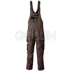 Coverguard GARDENER khaki munkaruházat sötétkék díszítéssel, kertésznadrág, gumis vállpánt,...