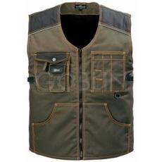 Coverguard BOUND GREEN khaki mellény, cipzáros, 6 zsebbel, fényvisszaverõ díszcsíkokkal, fekete...