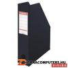 Iratpapucs, PP/karton, 80 mm, összehajtható, ESSELTE, Vivida fekete (E56007)