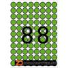 Etikett, 16 mm kör, színes, A5 hordozón, APLI, zöld, 704 etikett/csomag (LCA12102)