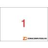 Etikett, univerzális, 297x420 mm, A3, APLI, 100 etikett/csomag (LCA11352)