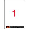Etikett, 210x297 mm, poliészter, időjárásálló, matt, APLI, áttetsző, 20 etikett/csomag (LCA1225)