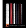 Spirál, műanyag, 12 mm, 56-80 lap, FELLOWES, piros (IFW53314)