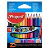 Színes ceruza készlet, háromszögletű, MAPED