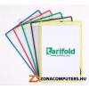 Bemutatótábla, függő, A4, álló, fém fülecskével, TARIFOLD, kék (TF154501)