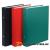 DONAU Gyűrűs könyv, 2 gyűrű, 30 mm, A5, PP/karton, DONAU, piros (D3718P)
