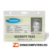 Azonosítókártya tartó, műanyag, fekvő, 91x68 mm, 3L (3L11305)