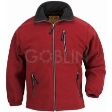 Coverguard ANGARA piros cipzáros pulóver, vastag 450 g/m2-es mikropolár