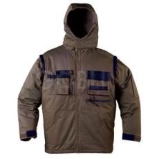 Coverguard GARDENER télikabát, khaki, sötétkék díszítéssel, levehetõ ujjakal és -kapucnival