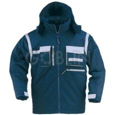 Coverguard NAVY télikabát, sötétkék, szürke díszítéssel, levehetõ ujjakal és -kapucnival