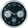 Renkforce Analóg rádiójel vezérlésű falióra dátum kijelzéssel (Ø) 30 cm Alumínium, Renkforce