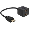 DELOCK adapter HDMI High Speed with Ethernet (M - 2xF)