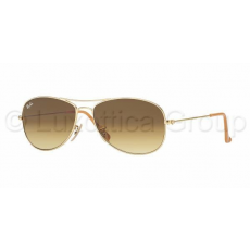 Ray-Ban RB3362 112/85 COCKPIT MATTE GOLD BROWN GRADIENT napszemüveg