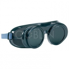 Lux Optical® Spartalux hegesztõszemüveg, gumipántos ABS, szellõzõ lyukakkal, 5-ös üveggel