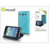 Muvit Samsung i8260 Galaxy Core flipes tok kártyatartóval - Muvit Slim and Stand - blue/black