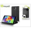 Muvit Samsung SM-G900 Galaxy S5 flipes tok kártyatartóval - Muvit Slim and Stand - black