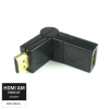 Qoltec Adapter HDMI Male/ HDMI Female (angle/rotary)