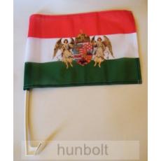 Nemzeti színű barna angyalos autós zászló, ablakra tűzhető