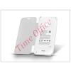 Haffner Samsung SM-G900 Galaxy S5 akkumulátoros flipes hátlap - 3200 mAh - fehér