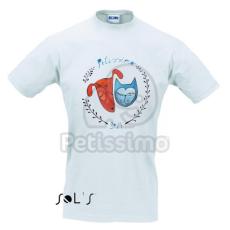 Férfi Petissimo póló fehér színben M-es méret