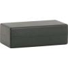 DigiSale műanyag doboz, csavarozható fedőlappal, 107x55x36mm, fekete (51021)