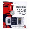 Memóriakártya, Micro SDHC, 16GB, Class 4, adapterrel, KINGSTON (MKMS16GMK)