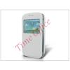 Haffner Samsung i8260 Galaxy Core S-View flipes tok - fehér