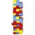 Goki 45 db-os színes Jenga