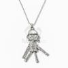 Robot medálos nyaklánc - antikolt ezüst bevonatos jwr-1166