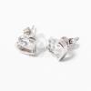 Szivecske beszúrós fülbevaló fehér kővel jwr-1382