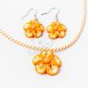 Gyerek ékszer szett csavart virágos - narancs jwr-1496